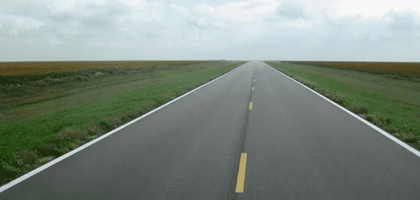 A road in Kansas